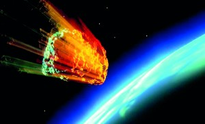 Asteroid Earth Falling Meteor Planet Space World