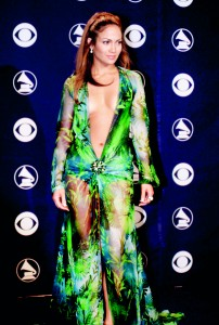 Controversial: Jennifer Lopez at the 42nd annual Grammy Awards in Feb, 2000
