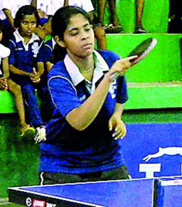 The most Outstanding Player of the tournament ( Girls') Erandi Warusavithana of Dharmasoka College,  Ambalangoda