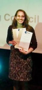 Natasha  with her award