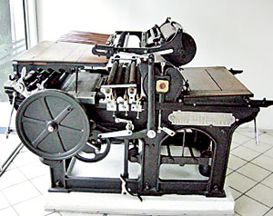 Pride of place: The letter press