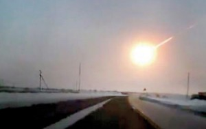 Hit: A terrifying meteorite shower left a thousand people injured, buildings devastated and the mobile network wiped out when it hit Russia this morning (Daily Mail, London)