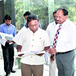 Inspecting NSBM City Campus constructions