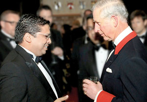 High Commissioner Nonis in conversation  with Prince Charles