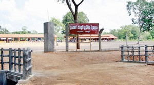 A helping hand: Land for the school was donated by the Chief Incumbent of Mahindaramaya Temple