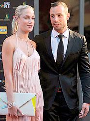 Fallen hero:   Oscar with Reeva