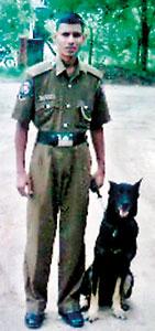 A proud handler  with Sheba