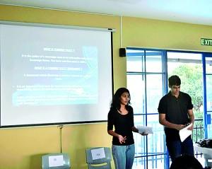 Student delegates at Co-MUN workshops