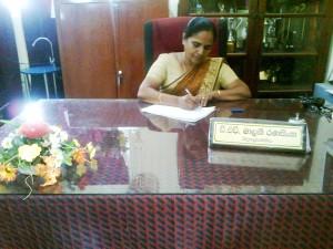 The Principal  Mrs. Malani Ranasinghe.