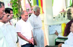 R.I.T. Alles�inaugurates pathway for�differently�abled�devotees at Gothami Viharaya Borella