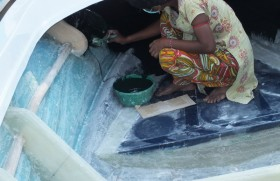 Hard-working, unmarried Kilinochchi woman supports family of 12  including parents by painting boats