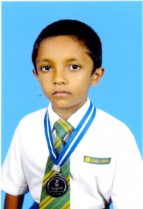 W.M .Gangadi Hiru Kumarasiri - the youngest chess player in the island to have participated in more than 10 international competitions.