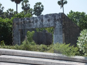 Another war ravaged building just at the approach road to Nagadeepa Viharaya