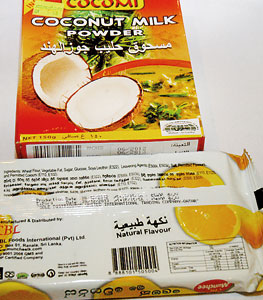 Halal certified products.  Pic by Nilan Maligaspe