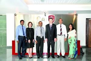 Secretary/CEO CA Sri Lanka,Mr. Aruna Alwis;President CA Sri Lanka, Mr.Sujeewa Rajapakse;Executive Director MarketsACCA, Mr. Steve Heathcote; Director  Emerging MarketsACCA, Ms. Lucia Real-Martin; Vice President CA Sri Lanka,Mr.Arjuna Herath; Market Head for Sri Lanka and Maldives ACCA,Ms. Nilusha Ranasinghe