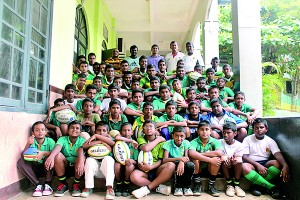 The students that participated in the workshop along with the Director Operation – Waruna de Silva, Coach - Tony Amit, Assistant Coach - Shantha Dharmarathne and Assistant Principal of St. Aloysius Collage Galle, Sarath Ranaweera.