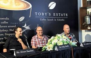 Toby Smith with Alvaro Sanchez and Andrew Lowe