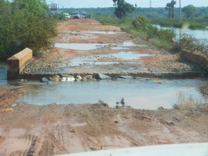 The chaotic state of A32 Jaffna Mannar trunk road