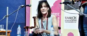 Zoe Heller at the Jaipur Literary Festival. Pic courtesy the Jaipur Literary Festival