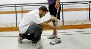 Khuram Shaikh: Giving a helping hand to a limbless victim in Gaza