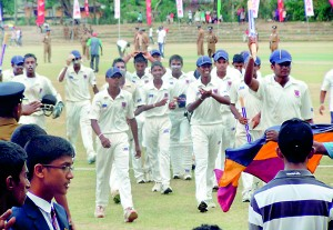 Maliyadewa college team returning to the pavillion after their VICTORY 2 copy