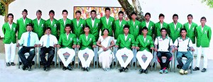 St. Servatius cricket squad with officials