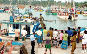 The vessel that was nabbed with the 12 illegal immigrants