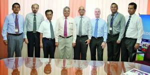 Photo from Right to Left Mr. Dilhan Goonathilake, Coordinator, BEDU-SLF Mr. Bharatha Herath, Coordinator, THMU-SLF Mr. Gareth McComic, Consultant/Lecturer, SLF Prof. Ranjith Bandara, Chairman, SLF Mr. Jayantha Rathnayake, Hospitality Manager, SLF Mr. Ranjith Kumarasiri, Education Specialist, ADBEKSP, MOE Mr. PHJ Arunasiri, Director, SLFI Mr. Samantha Rathnayake, Consultant Academic Affairs, SLF
