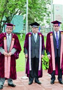 Professor S. Karunaratne, Dr. P.B. Jayasundara and Prof. Gamage