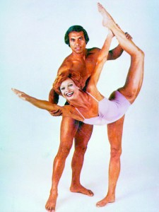 Bikram Choudhury is known to teach the sweltering practice he created while wearing small swimsuits and says he is Jesus and Elvis rolled into one