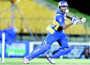 Opener TM Dilshan smashed an unbeaten 112 off just 108 balls. - Pix by Shantha Ratnayake