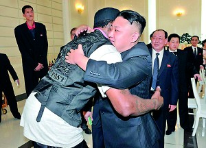 Friends: Rodman said that Kim Jung-un wants peace and is a cool 'kid' that he plans to visit again in August for six days