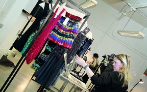 Lonali's garments on display in the UK