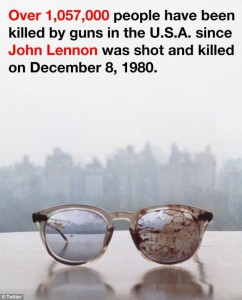 Yoko Ono tweets controversial image of John Lennon's bloody glasses