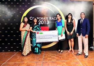 The winners of the Corporate Race - CCBT with the Head of ACCA Sri Lanka -Ms.Nilusha Ranasinghe
