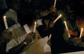 Night vigil against CEB's daylight robbery