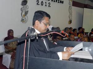 Address by the Principal Trizvi Marikkar