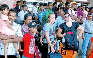 Both local and foreign tourists were severely  inconvenienced by the cancellation of the train service