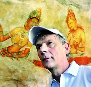 At Sigiriya, viewing the frescoes