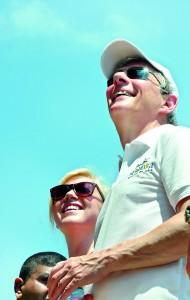 BA CEO Keith Williams enjoys the sights. Pix by Hasitha  Kulasekera