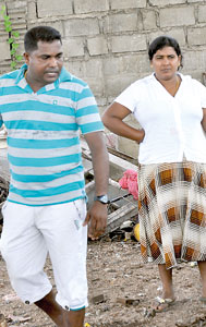 Making money with scrap: Businessman Chandana with his wife.