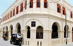 The imposing colonial building