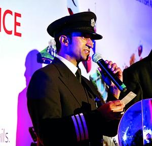 BA pilot Kiran  Mediwaka. Pic  by M.A.Pushpa Kumara