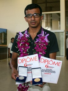 LOCAL INVENTOR - Manju at airport welcome