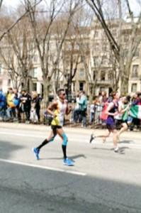 On the run: Neil Weerakoon, the only Lankan at the Boston Marathon