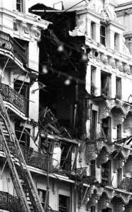 The bomb-devastated Grand Hotel in Brighton