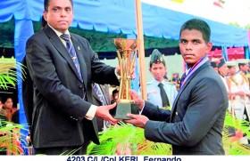Lakshan Fernando  adjudged  best athlete