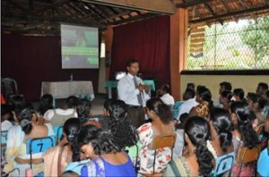 The training programme conducted for the teachers and parents