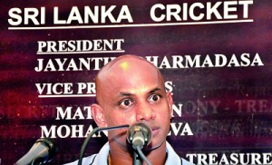 Chief selector Sanath Jayasuriya says that he believes in trial matches. 				- Pic Amila Gamage