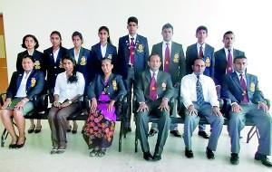 The national table tennis squad: (Seated from left): Ishara Madurangi (Women's captain/Sri Lanka Air Force), Sadisi Nirasha (Vice President TTASL), Tamara Hewage (Delegator), Jagath Rajapaksa (Coach), Sqn Ldr MSM Razeen (Treasurer TTASL), Rohan Sirisena (Men's captain/Sri Lanka Air Force).  (Standing from left) Pawani Sirisena (Maliyadeva GS Kurunegala), Ridhmi Karadanaarachchi (Mahamaya GS Kandy), Nuwani Navodya (Dharmasoka Ambalangoda), Praveena Silva (Girl's HS Kandy), Sajith Kavinda (Sri Lanka Army), Milinda Lakshitha (Sri Lanka Air Force), Udaya Ranasinghe (Vidyartha College Kandy), Nirmala Jayasinghe (MAS Holdings).